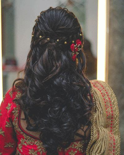 Bridal Hairstyles Let by Best 25 Indian Bridal Hair Ideas On