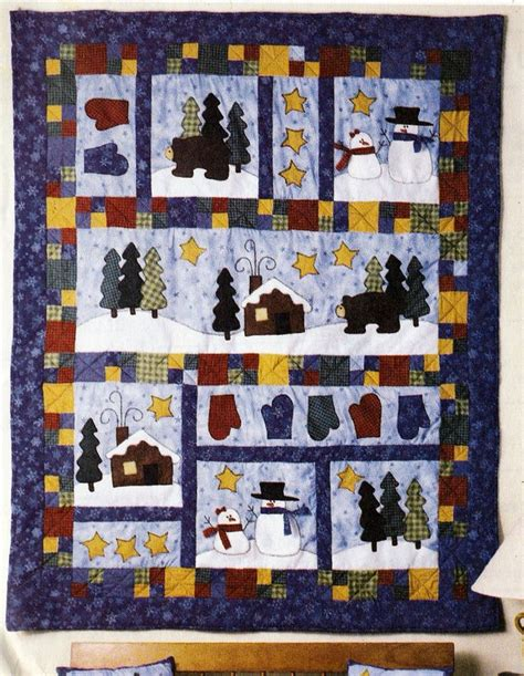 Mccalls Patchwork Patterns - american tradition winter quilt mantle cover