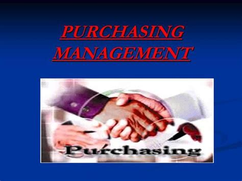 Purchasing Management Ppt Authorstream Purchase Presentation