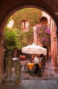 Spanish Style Homes With Courtyards mexican courtyard mi m 233 xico querido pinterest