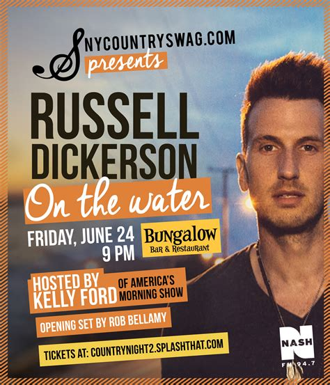 russell dickerson june 2 events nycs