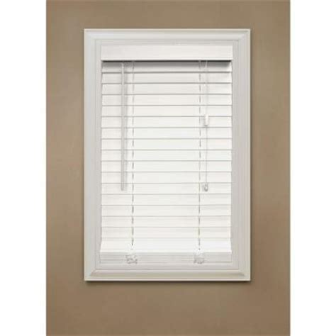home decorators faux wood blinds home decorators collection cut to width white 2 in faux