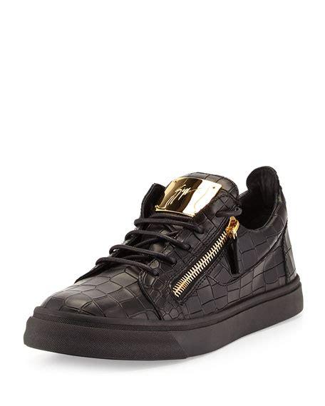 mens giuseppe sneakers giuseppe zanotti s croc embossed low top sneaker