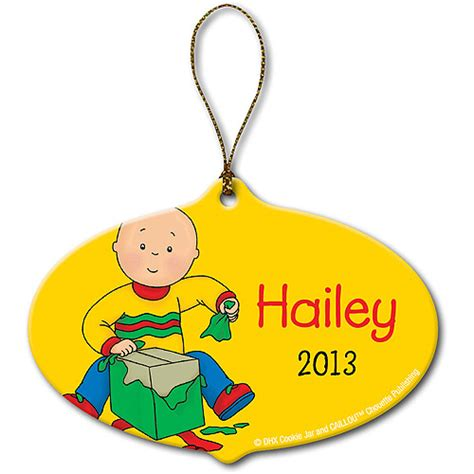 personalized caillou gift christmas ornament personalized