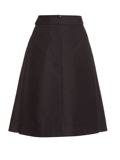black high waisted a line skirt dress ala