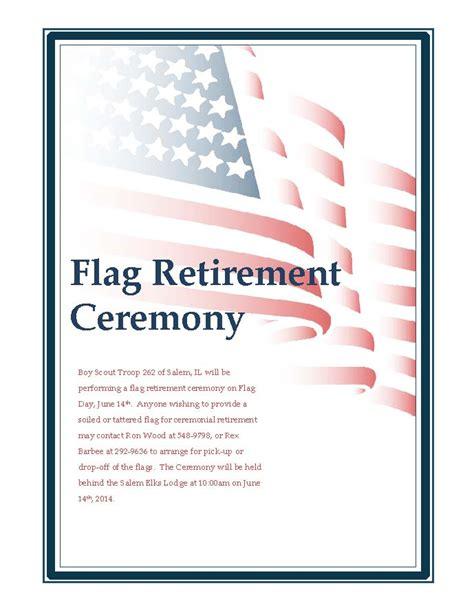 FLAG RETIREMENT CEREMONY. ? Greater Salem Chamber of Commerce