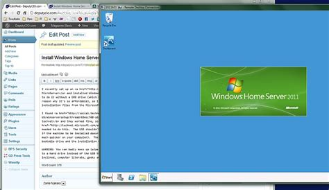 install windows home server 2011 without a dvd drive