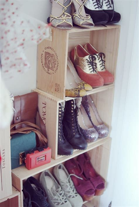 wine crate shoe storage how to furnish your home with repurposed wine crates