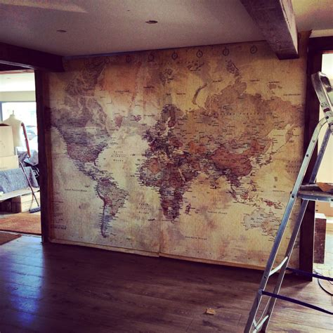 worldly decor old world map wall paper decor pinterest