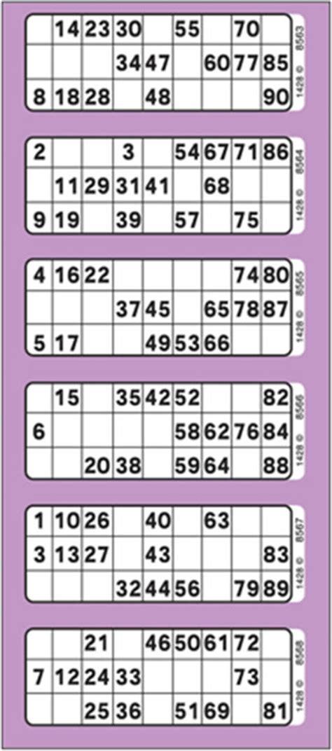 printable bingo tickets 1 90 the basics of 90 ball bingo no deposit bingo