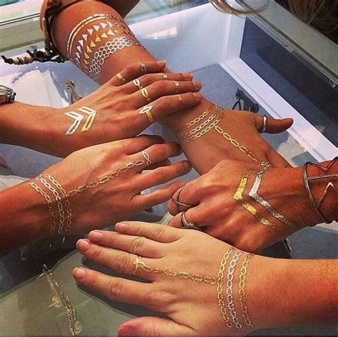 henna tattoos nyc rouelle elletatts metallic tattoos flash tattoos gold by