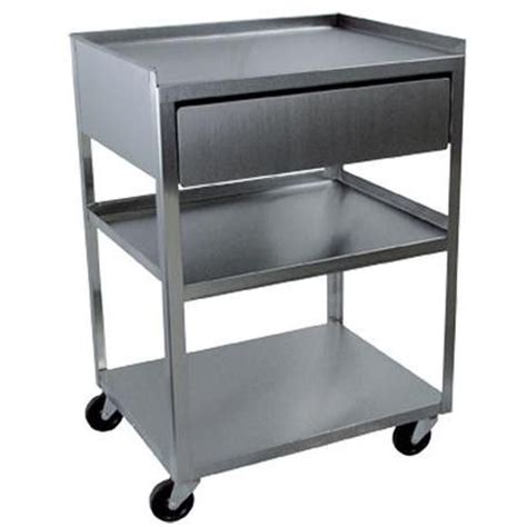 3 Shelf Rolling Cart by Buy Stainless Steel Rolling Cart 3 Shelf With Drawer