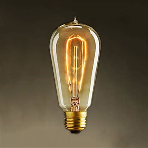 Oldest Light Bulb by Fashioned Style Edison Squirrel Cage Filament Light