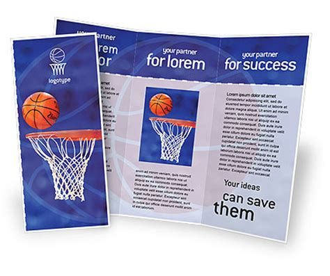 sports brochure templates basketball match brochure template design and layout