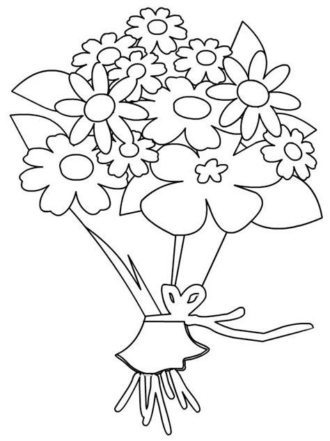 fiori da colorare e stare coloriages fleurs bouquets