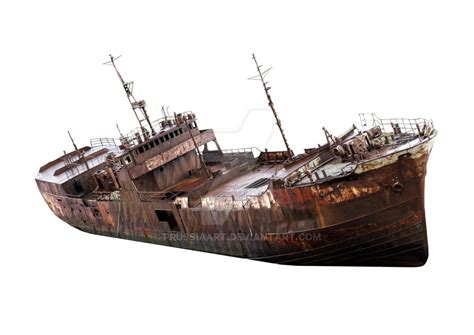 the rusty old ship on a transparent background by - Old Boat Png