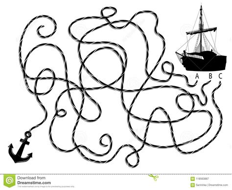 dessin bateau silhouette silhouette du bateau et de l ancre de pirate illustration