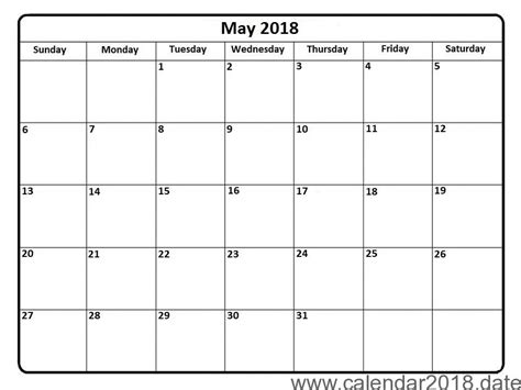 printable calendar for may 2018 free printable calendar may 2018 free printable calendar