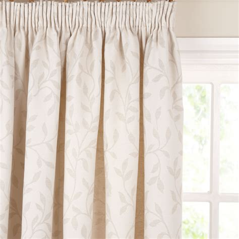 pencil pleat drapes john lewis leaf trail pencil pleat curtains stone