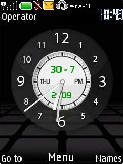 clock themes wap in download nokia clock new nokia theme mobile toones