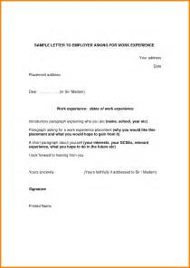 5 letter for work experience exle ledger paper