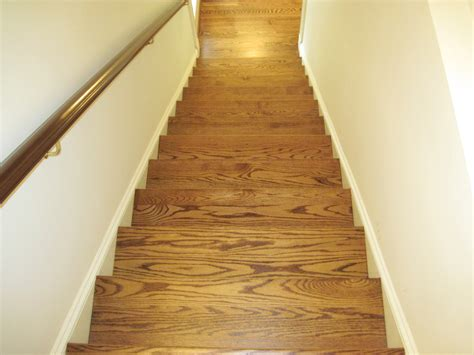 Stained Oak Floors by Red Oak Stain Stair Duffyfloors