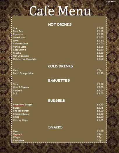 simple menu templates and designs musthavemenus