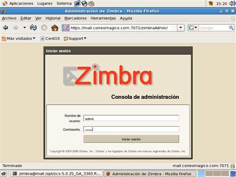 tutorial de zimbra en español zimbra
