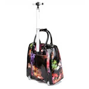 ted baker connie cascading floral travel bag in black coes
