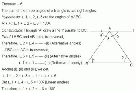Theorem Triangle Sum Theorem Geometry Kwiznet Math