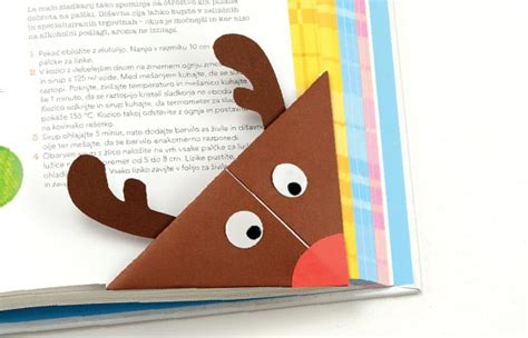 printable christmas origami bookmarks reindeer origami corner bookmark easy peasy and fun
