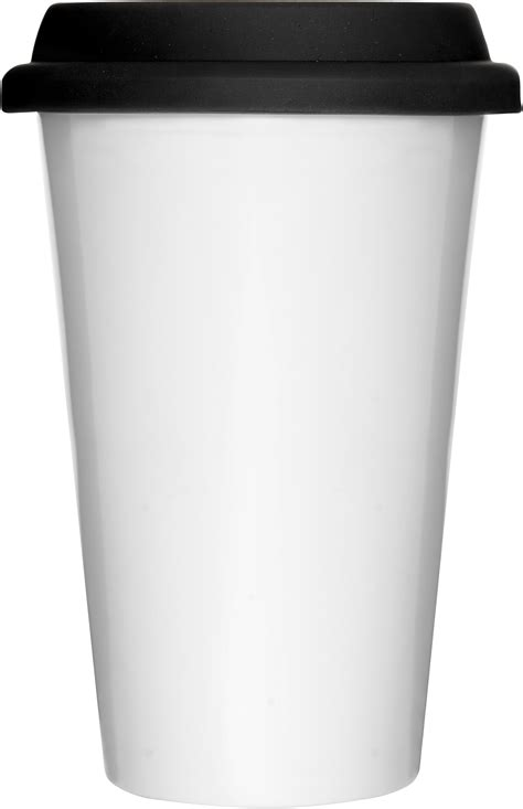 Formahouse   Sagaform: White travel mug with silicone lid