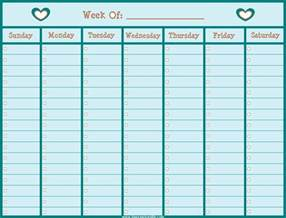 Free Weekly Calendar Templates 2014 by Blank Week Calendar New Calendar Template Site
