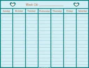 weekly planner calendar template turquoise colored weekly calendar template for
