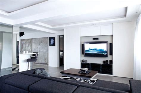 Living Room Sliding Doors Singapore 10 Elegantly Clean Cut Tv Console And Feature Wall Design