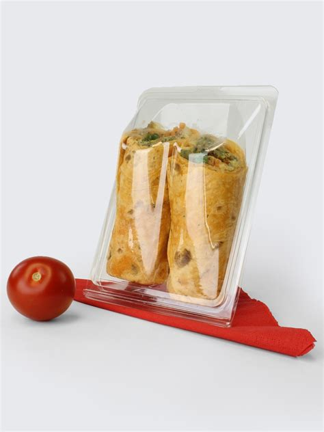 Packaging Wrap tortilla wrap hinged plastic container