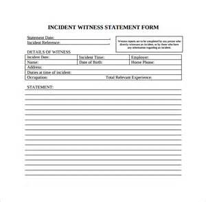 Written Statement Template by Witness Statement Template 9 Free Documents In