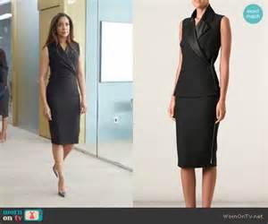 wornontv jessica s black wrap dress on suits