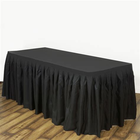 banquet table skirts 17 x 29 quot polyester banquet table skirt wedding