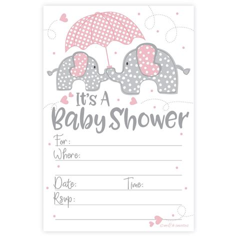 Pink Elephant Baby Shower by Pink Elephant Baby Shower Package