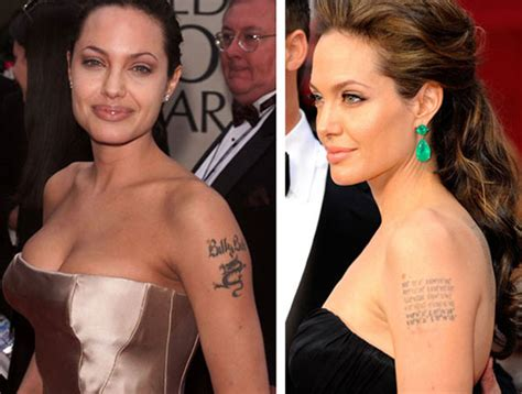 angelina jolie angelina jolie s dragon tattoo removal