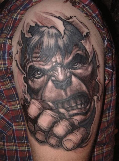 incredible hulk tattoos cool comic book tattoos