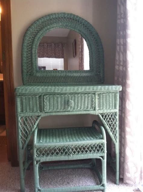 Wicker Vanity by Wicker Vanity Home Apartment Decor