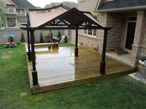 backyard platform deck custom decks brton bolton caledon milton woodbridge