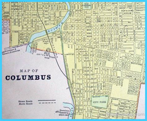 map of columbus ohio map of columbus ohio travelsmaps