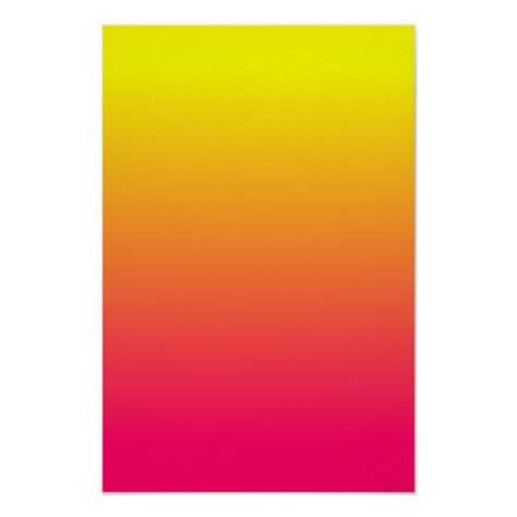 black pink yellow yellow orange pink ombre poster zazzle