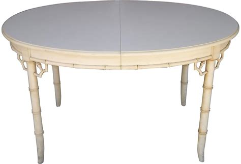 faux bamboo dining table