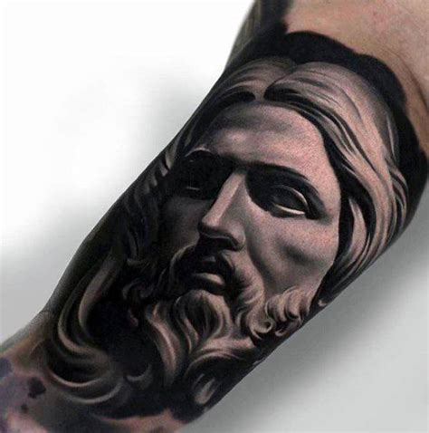 3d tattoo jesus christ 60 3d jesus tattoo designs for men religious ink ideas