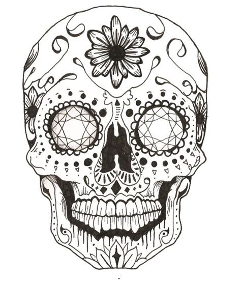 sugar skull coloring pages pdf free candy skull on behance school age curriculum pinterest