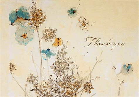 Pdf Thank You Note For Flowers by Watercolor Flowers Thank You Note Cards